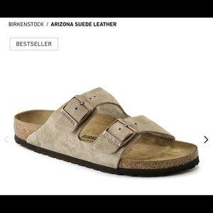 Birkenstock Arizona Taupe Suede leather sandals